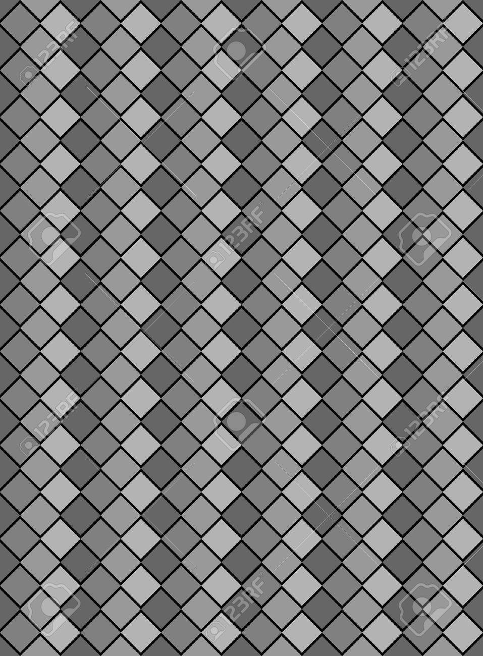 black, white and gray variegated diamond snake style wallpaper texture pattern. - 7347127
