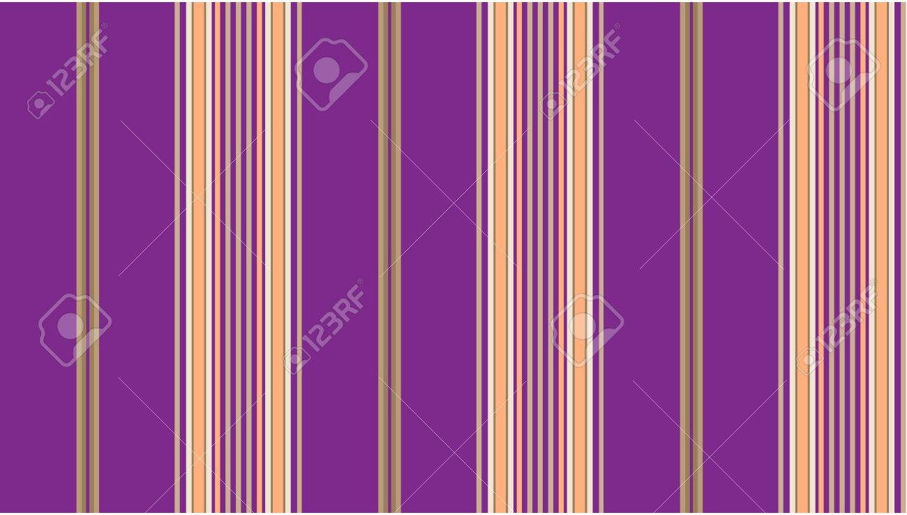 Purple and tan striped continuous seamless fabric or wallpaper background. Stock Vector - 7347125