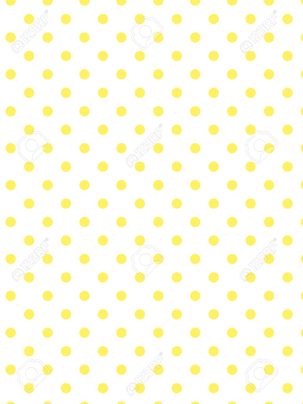 vector white background with yellow polka dots