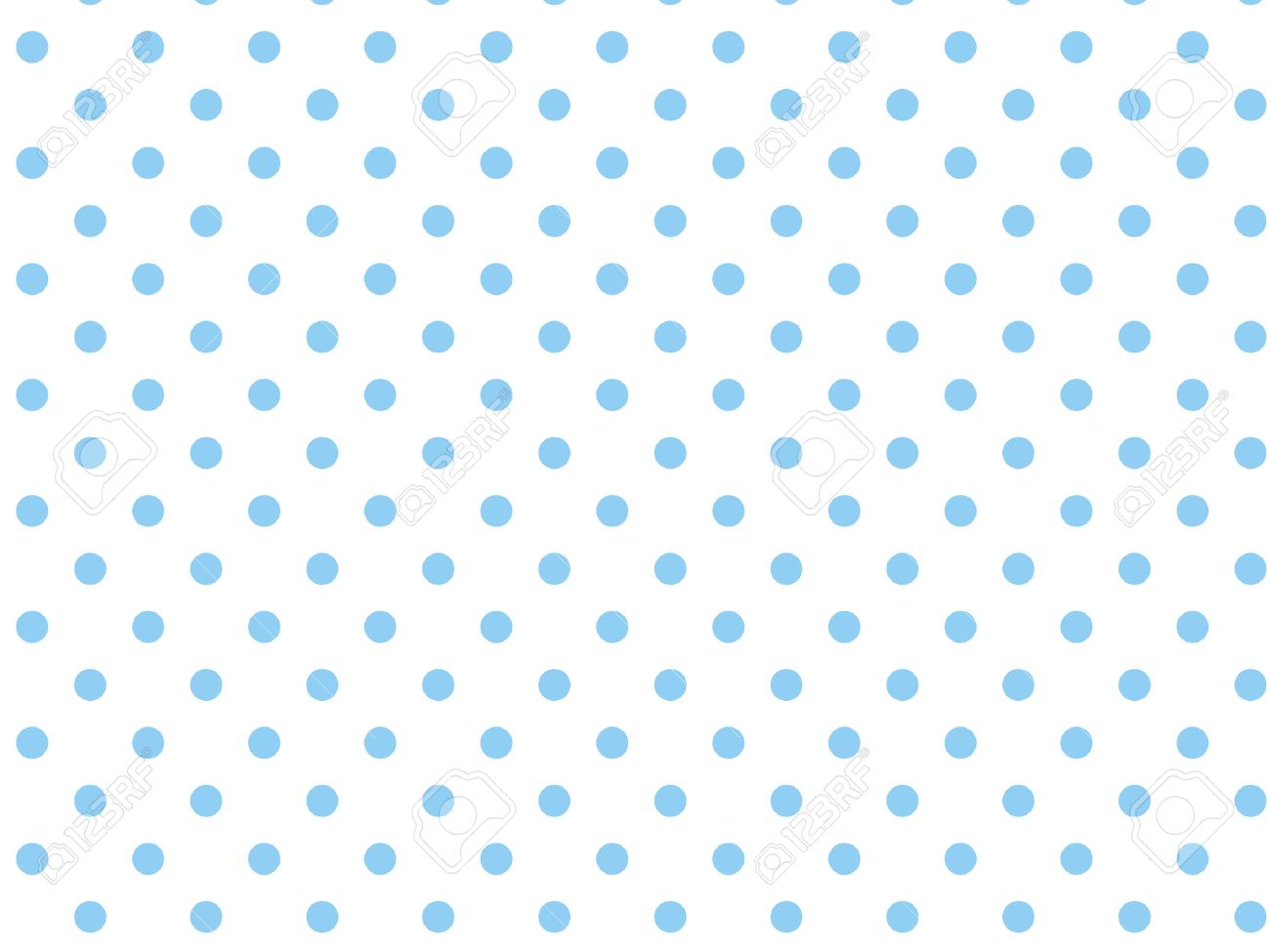 White background with blue polka dots. - 7347136