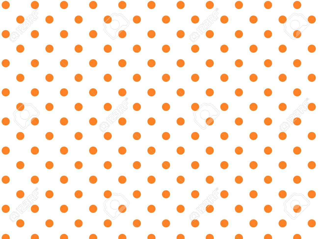 White background with orange polka dots (eps8) - 7359882
