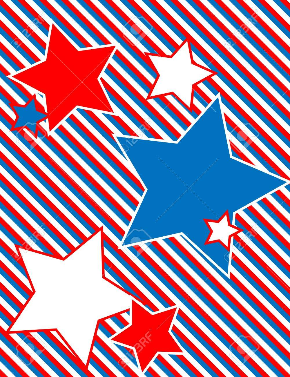 Red white and blue patriotic star background with a striped red white and blue patriotic star background with a striped background stock vector 13092439 voltagebd Choice Image
