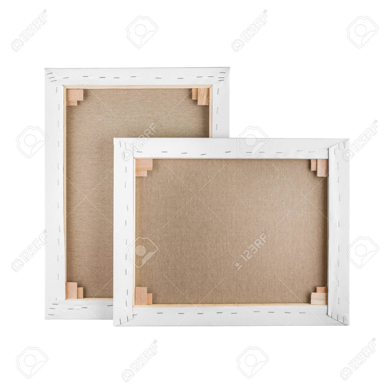 gallery wrapped blank canvas on wooden frame stretcher bar stock