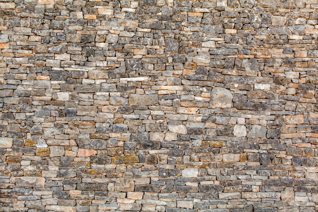 Natural stone wall texture for background - 46899528