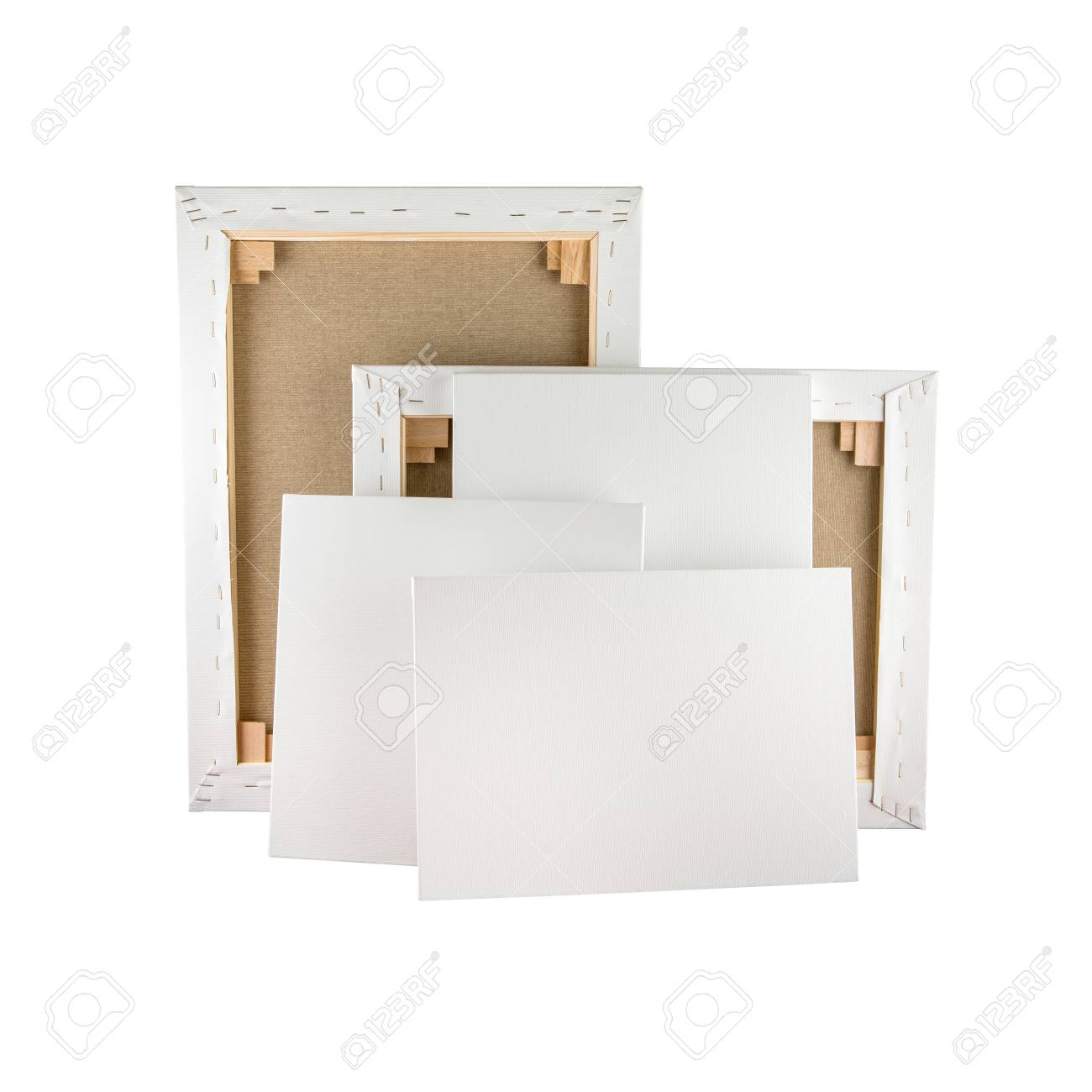 Gallery Wrapped Blank Canvas On Wooden Frame - Stretcher Bar.. Stock ...