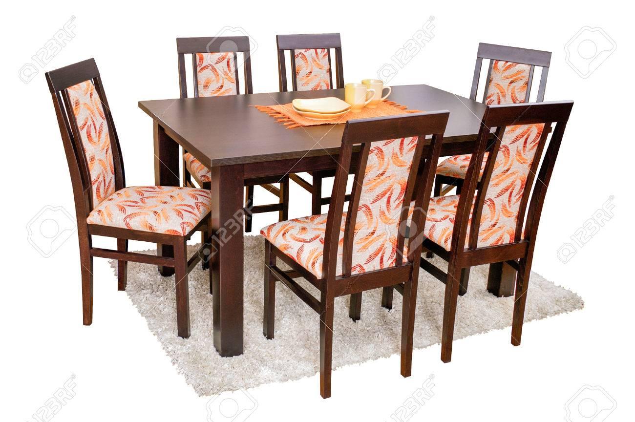 Esstisch Und Stühle Getrennt Auf Weiß Lizenzfreie Fotos, Bilder Und ...