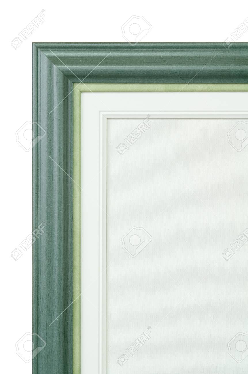 Frame And Painter Artist Canvas Isolated On White Stock Photo ...