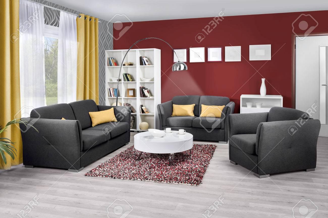 Intérieur d\'un salon moderne de couleur