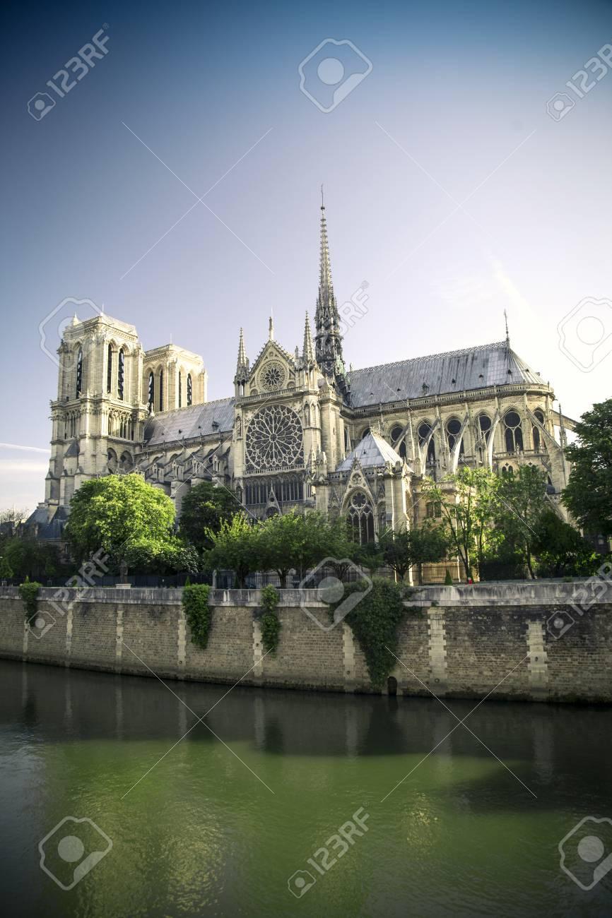 Cathédrale Notre Dame De Paris France Dessin Main Illustration