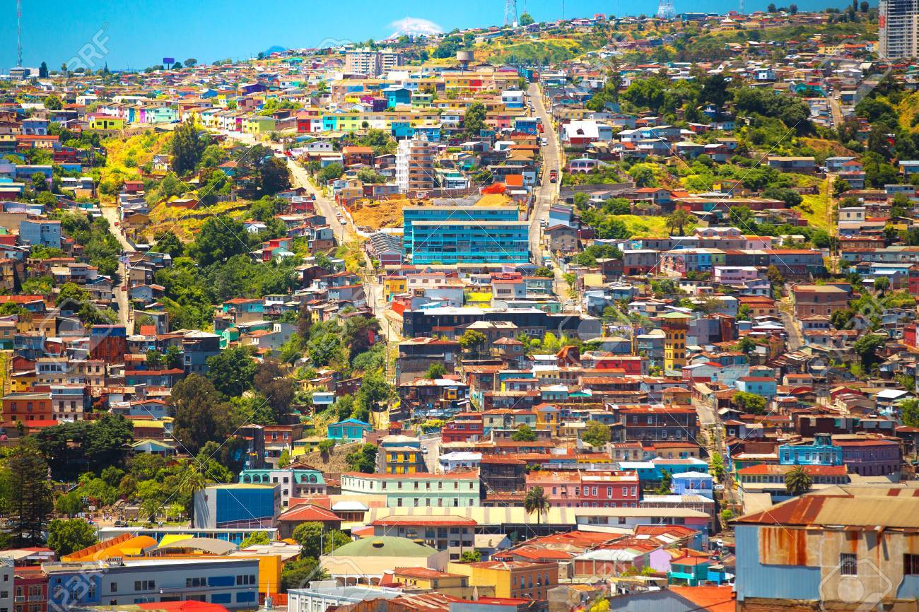 colorful buildings on the hills of the city of valparaiso chile