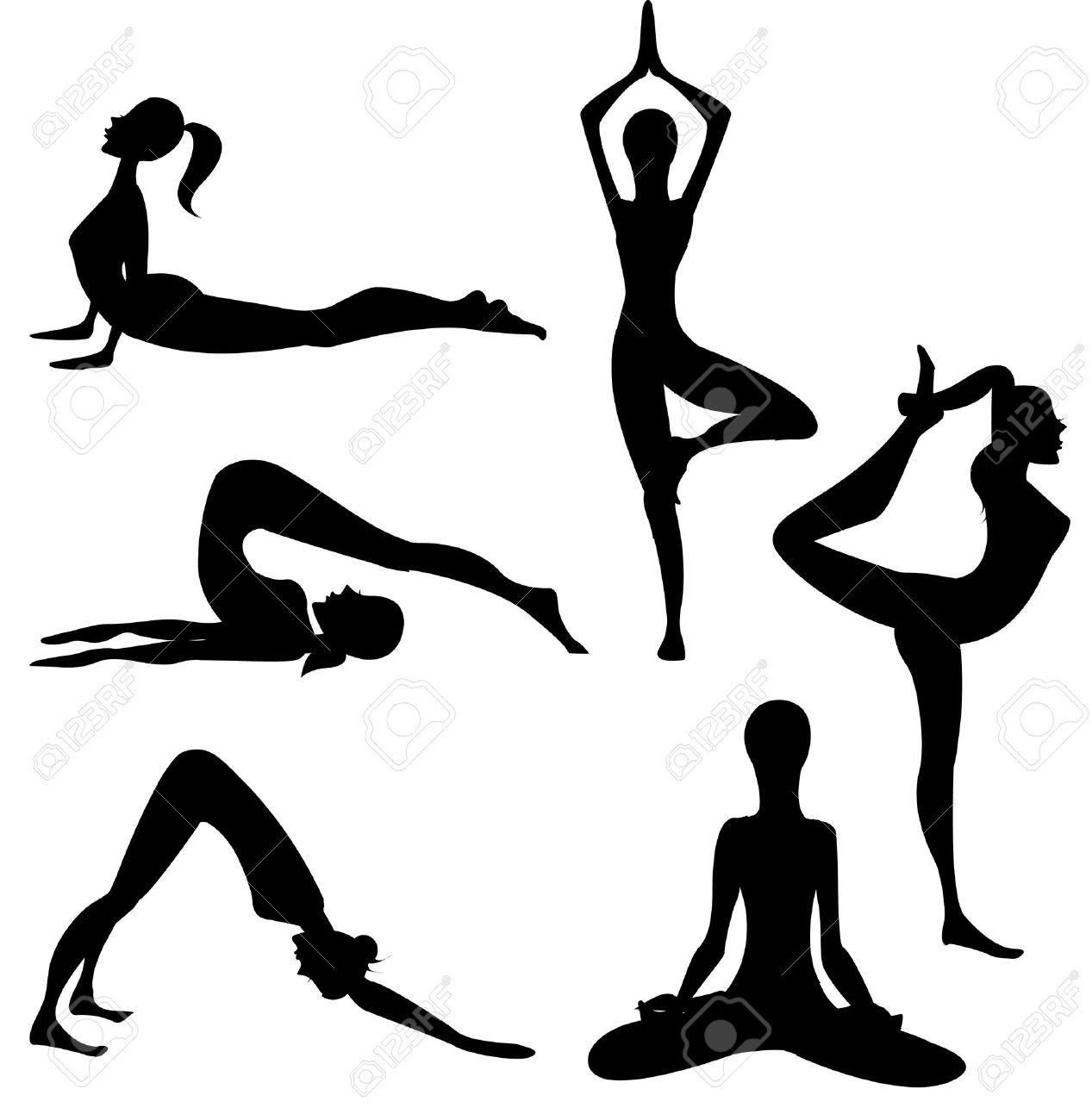 Vector - Yoga silhouette