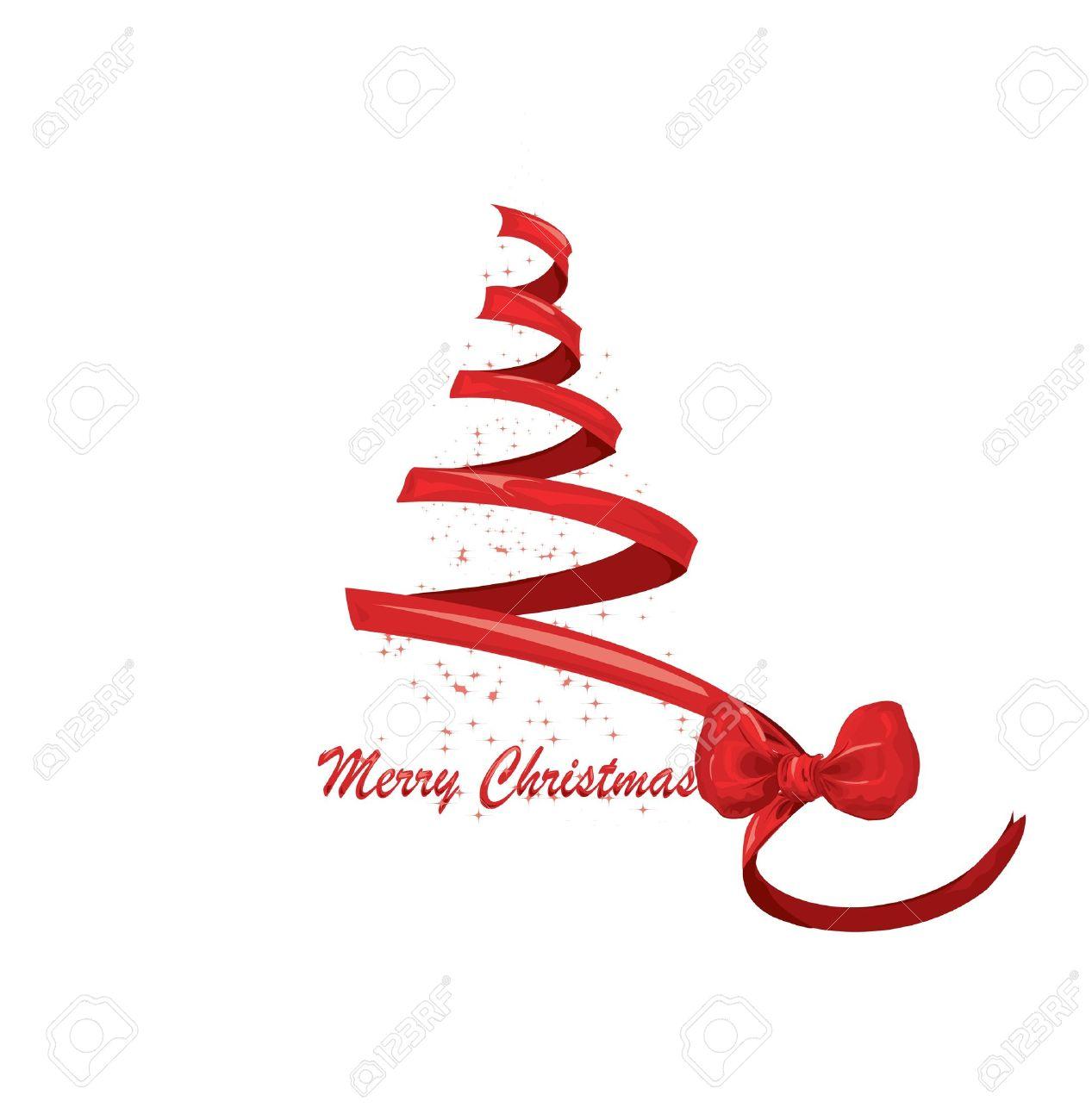 ribbon christmas tree vector royalty free cliparts vectors and