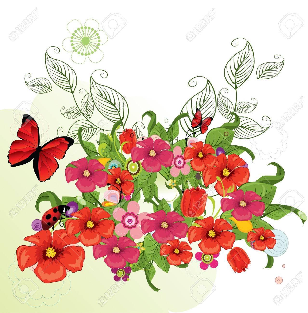 Beautiful flowers Stock Vector - 8985964