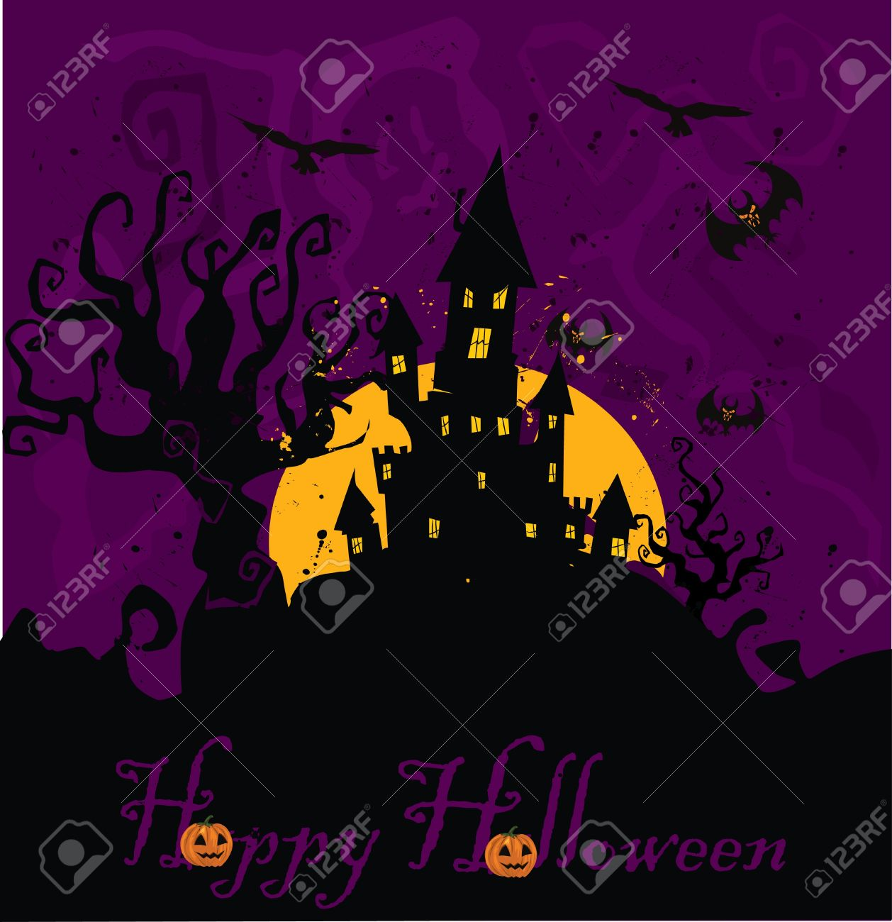 Haunted House Halloween Stock Vector