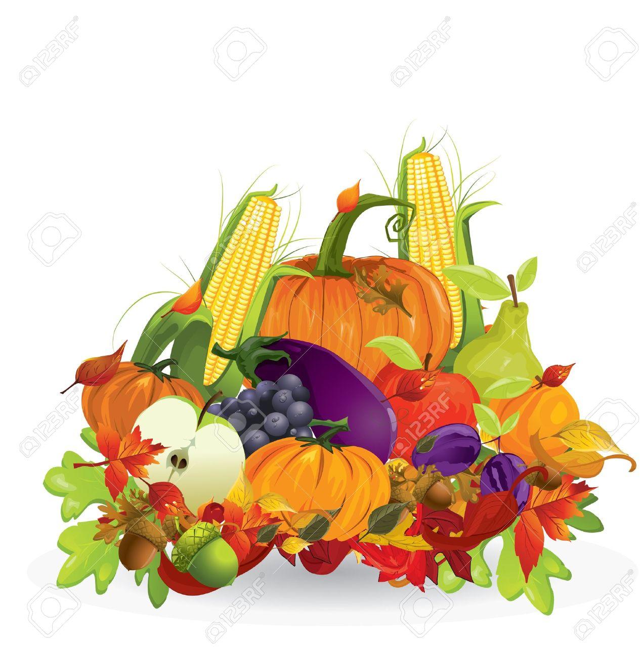 Top Légumes Et Fruits D'automne Clip Art Libres De Droits , Vecteurs  YQ46