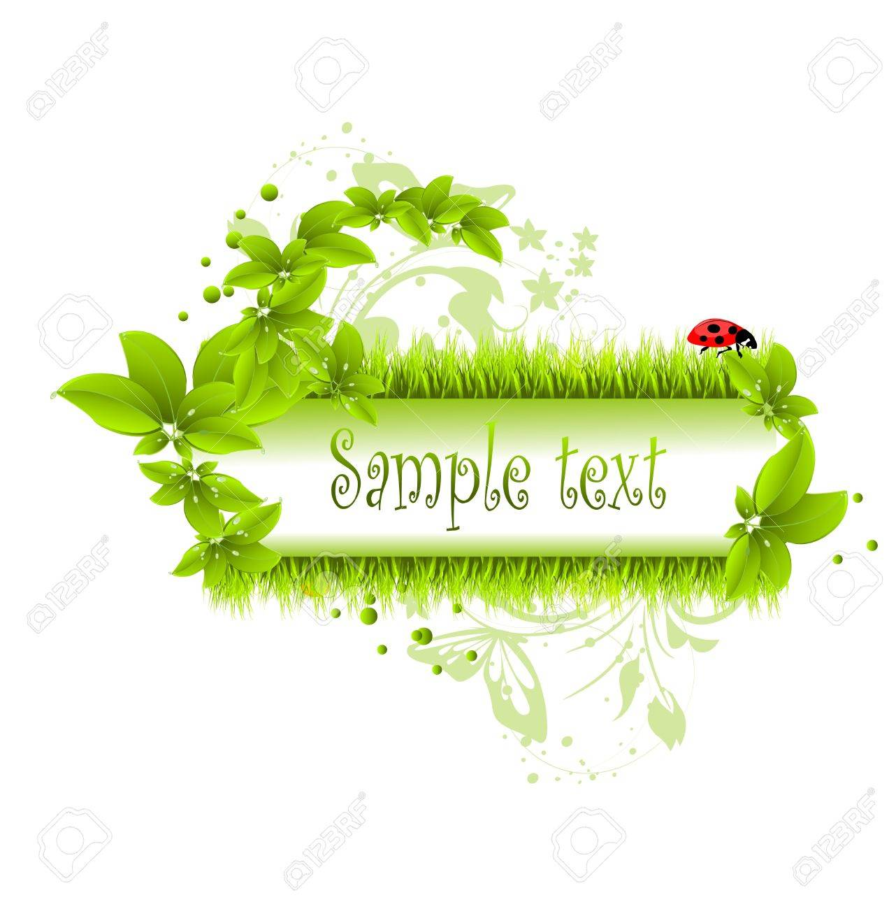 vector illustration of green leafs and grass Stock Vector - 10722596