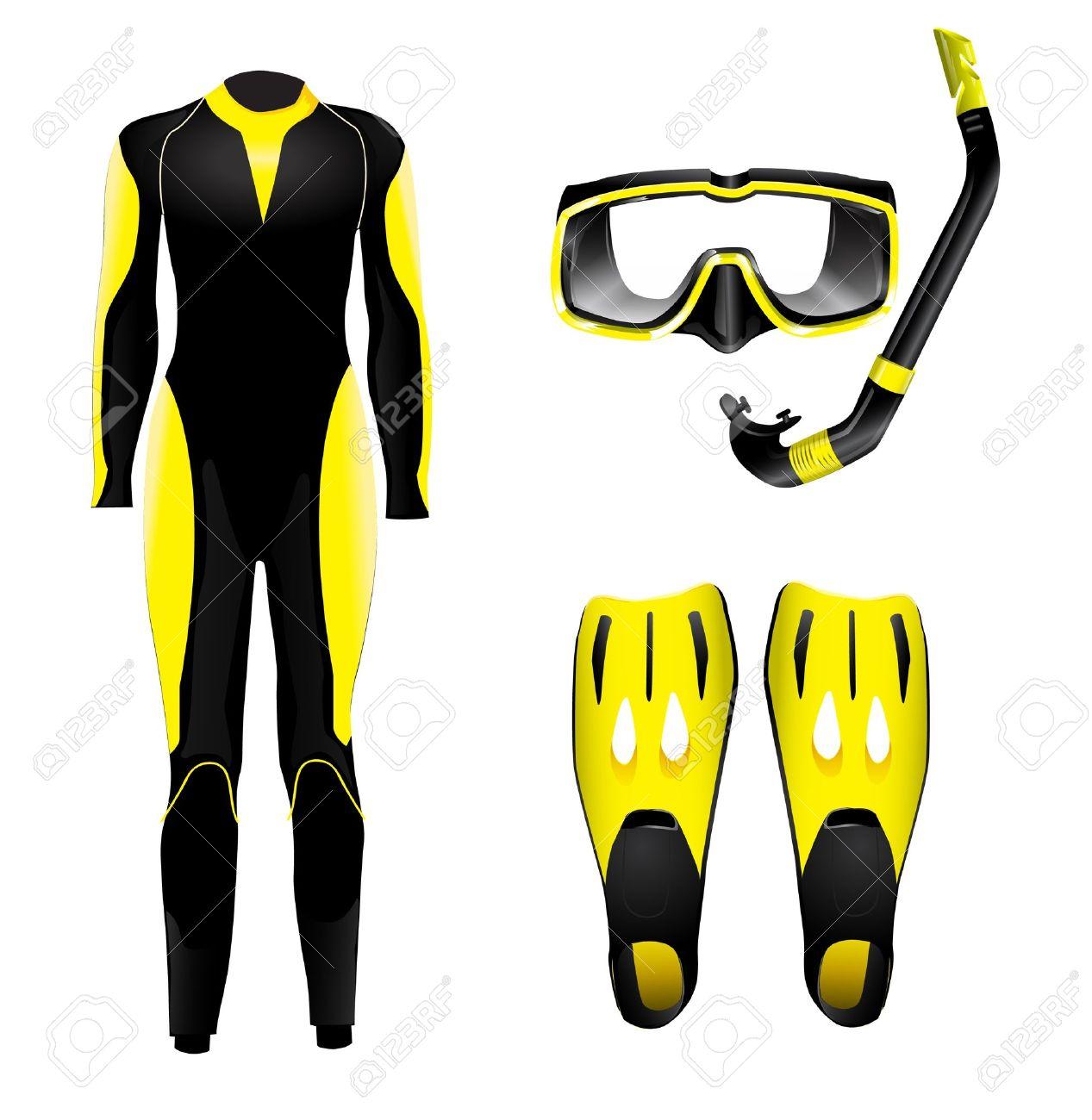 Diving equipment Stock Vector - 12964045
