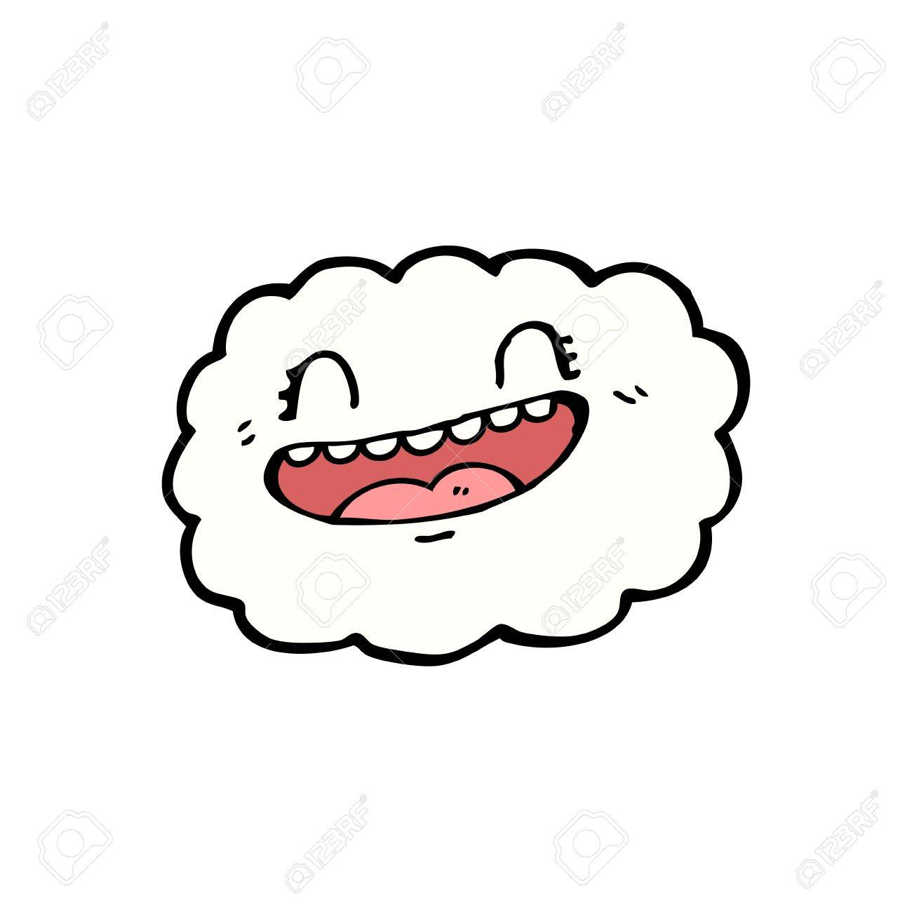 cartoon cloud with expression Stock Vector - 15789856