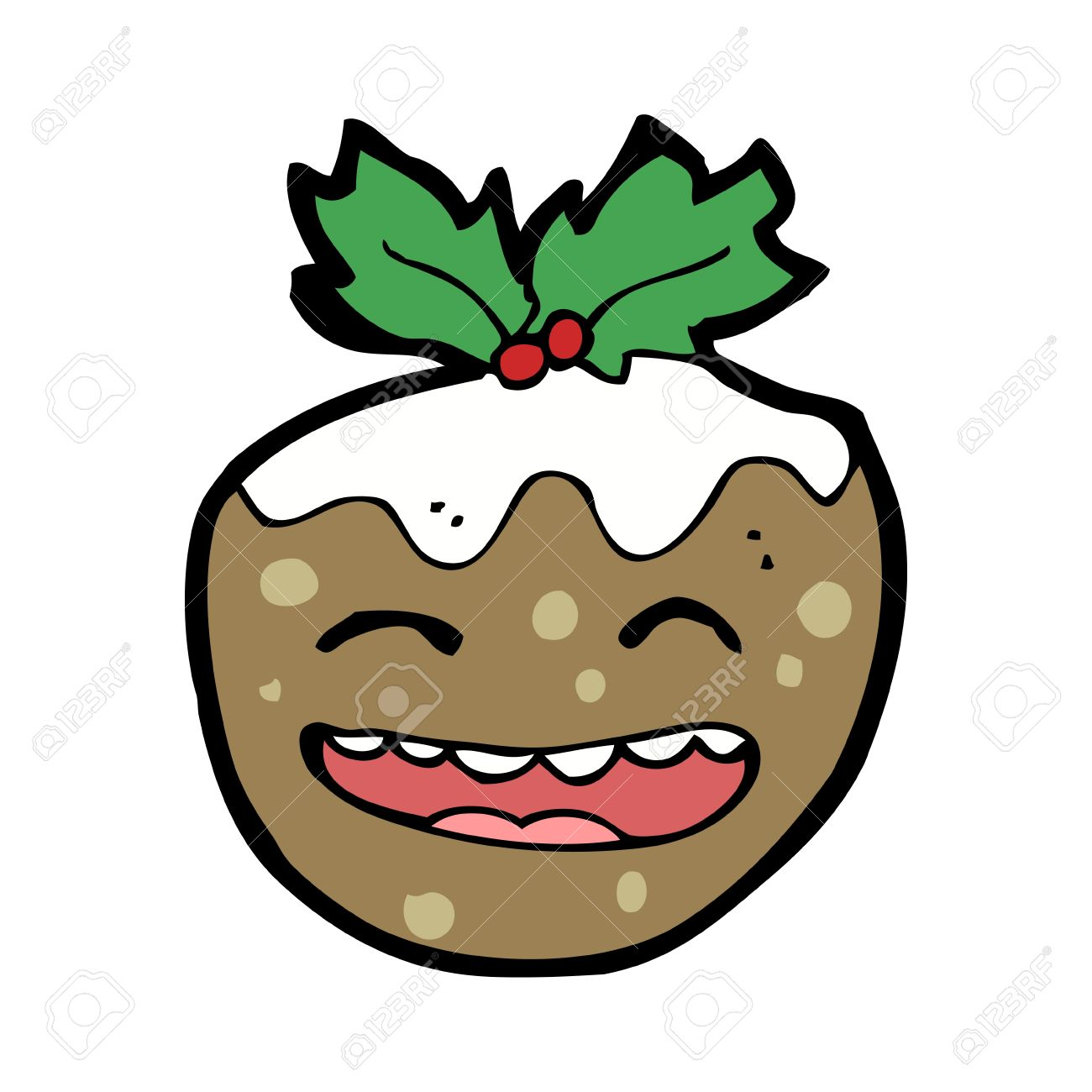Cartoon pictures of christmas puddings