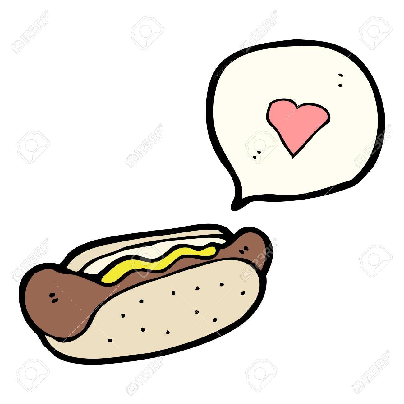 junk food love cartoon Stock Vector - 16533845