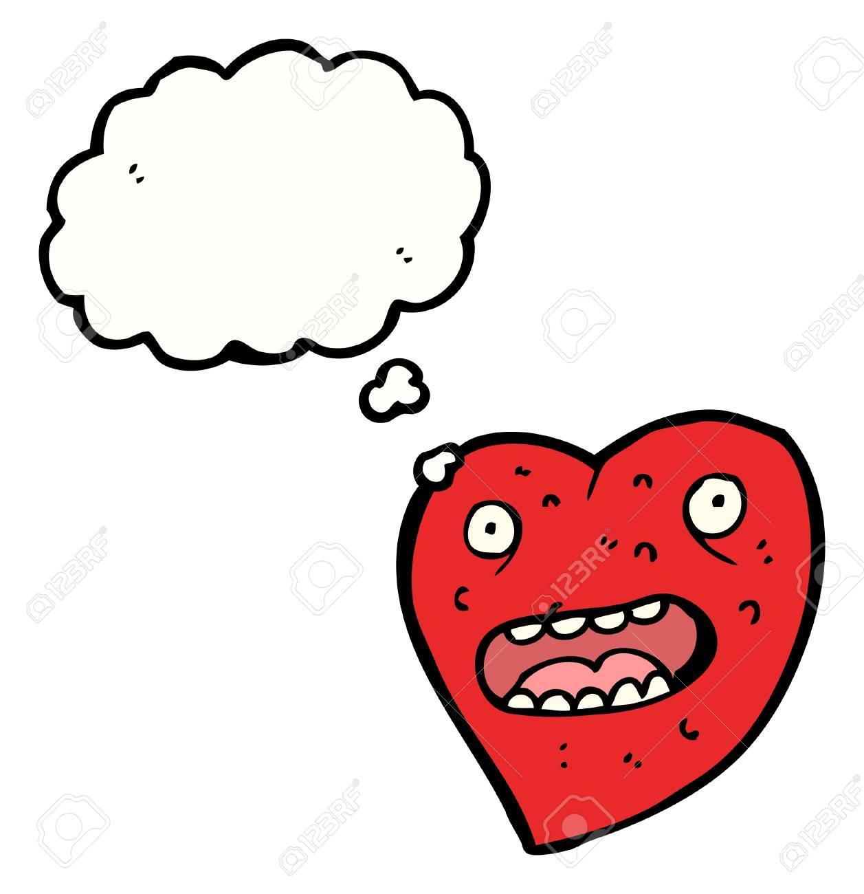cartoon heart with speech bubble Stock Vector - 16240673