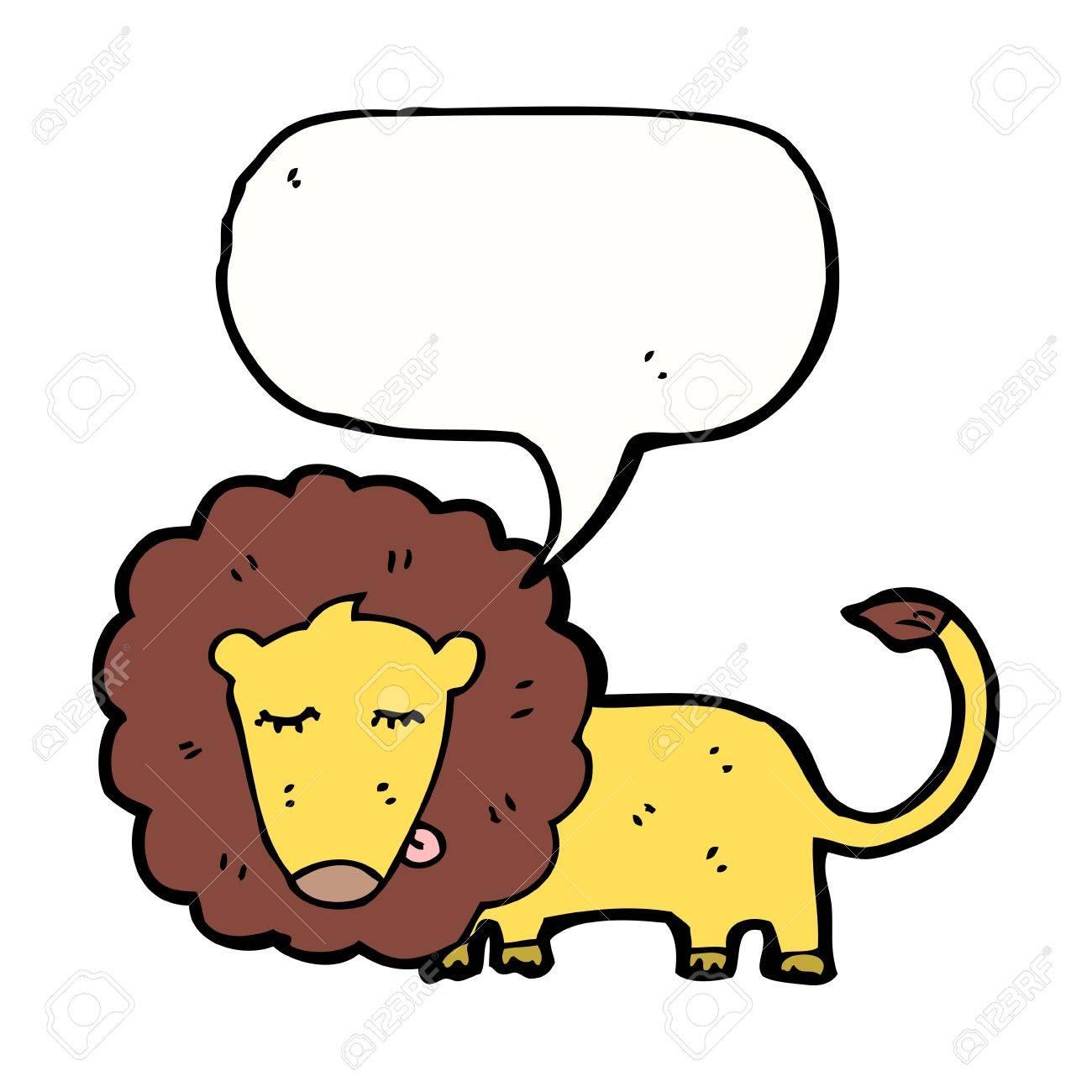 cartoon lion with speech bubble Stock Vector - 16239882