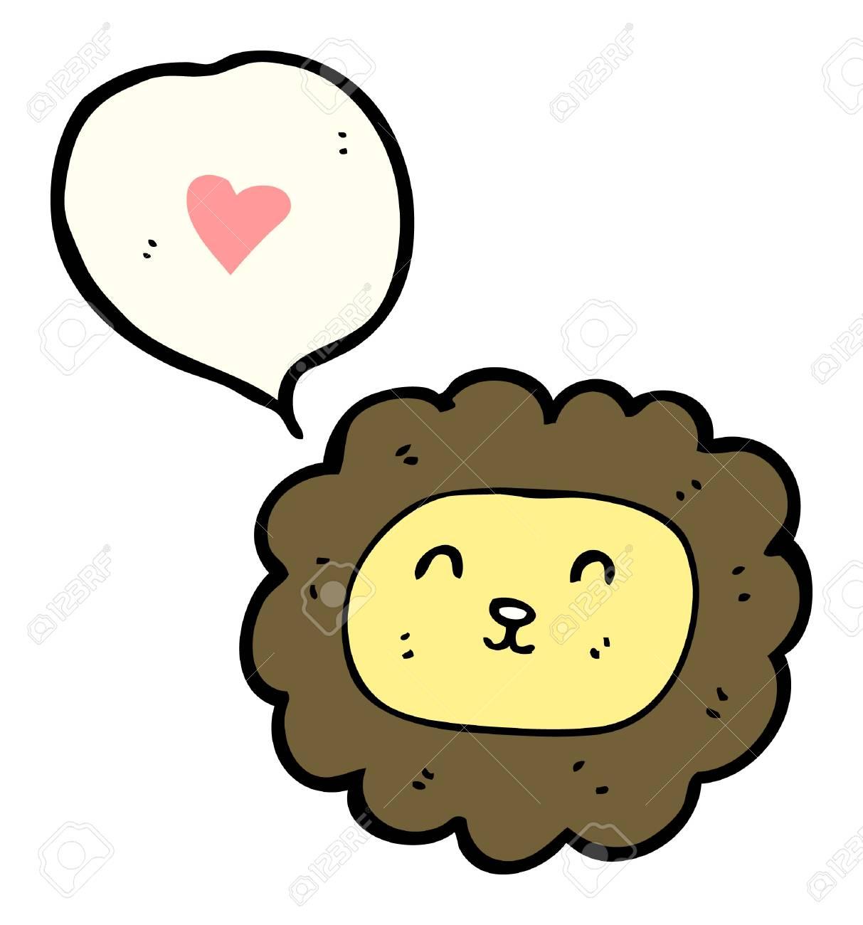 cartoon lion with speech bubble Stock Vector - 16170035