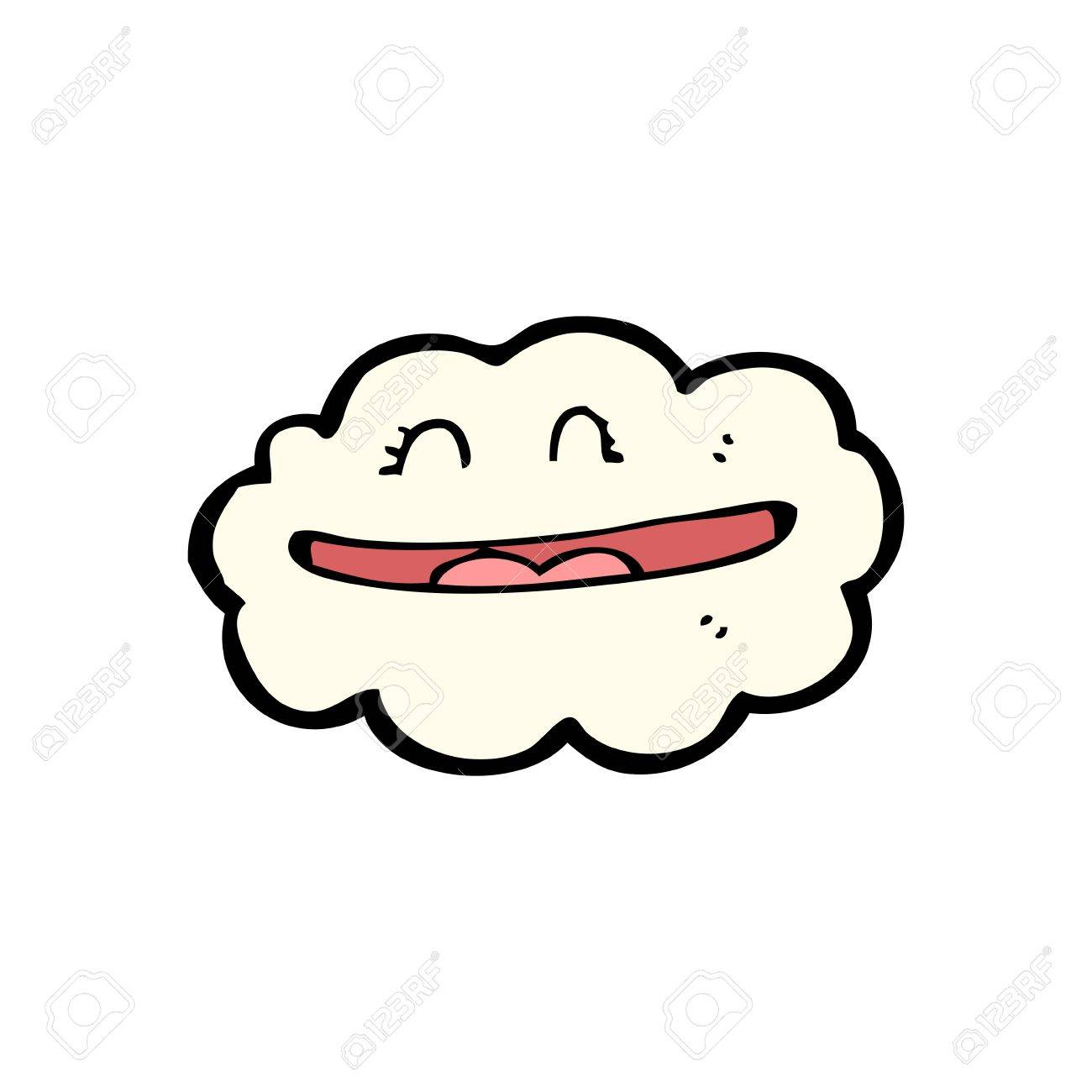 Cartoon Cloud With Smiley Face Royalty Free Cliparts Vectors And
