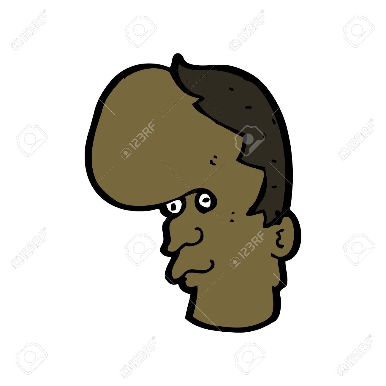 cartoon character of a man with a huge forehead royalty free rh 123rf com big head animated characters big head female cartoon characters