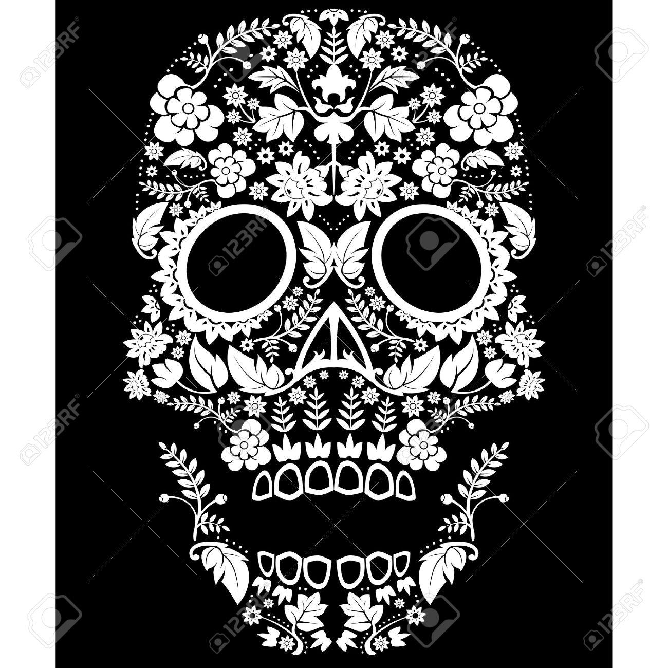 Day of the Dead Sugar Skull Illustration - 21586511