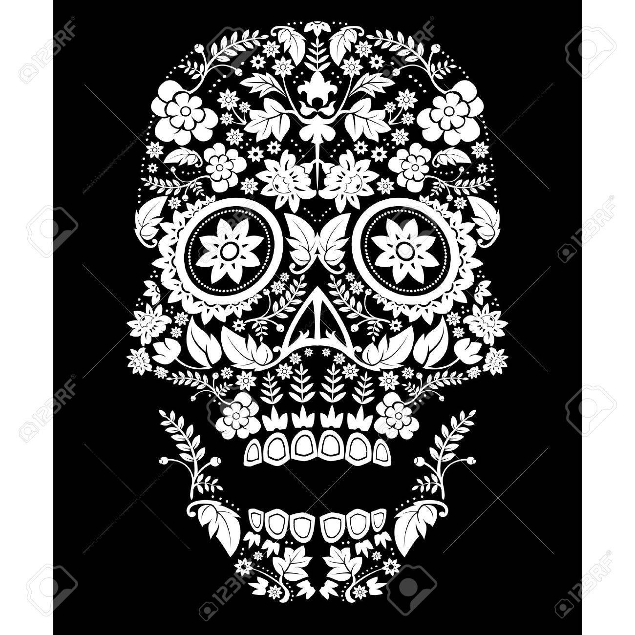 Day of the Dead Sugar Skull Illustration - 21586515