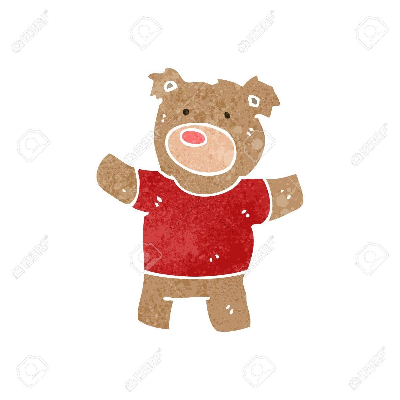 retro cartoon teddy bear - 22140343