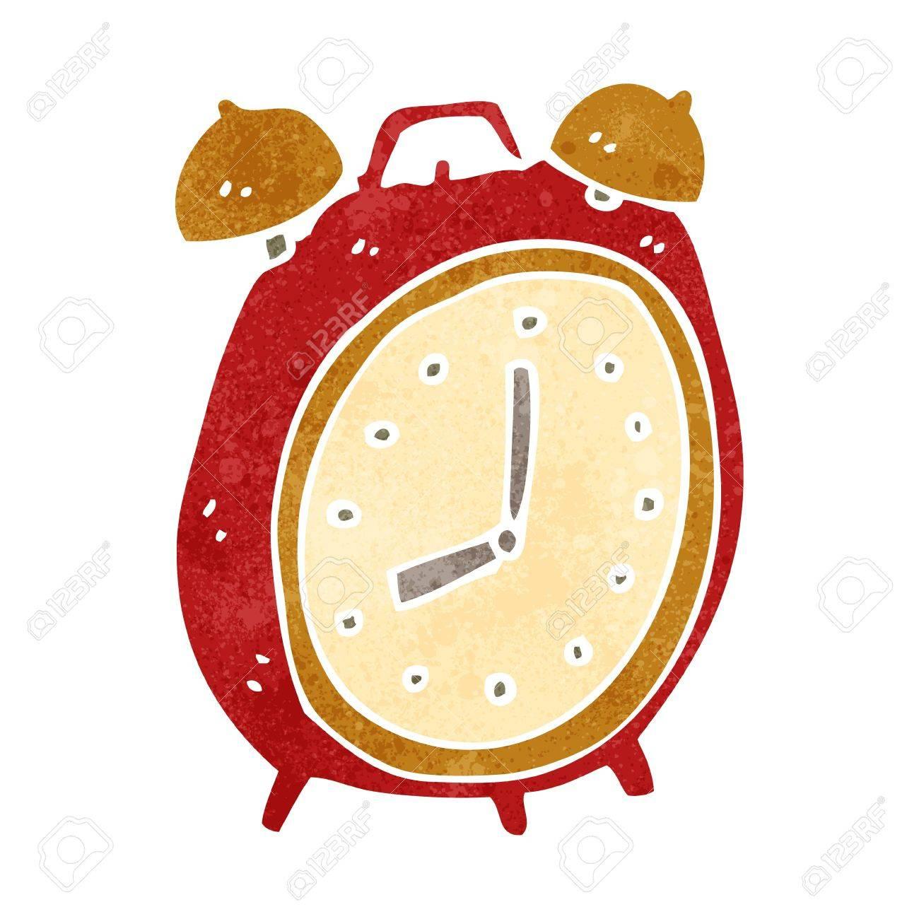retro cartoon alarm clock - 22155432