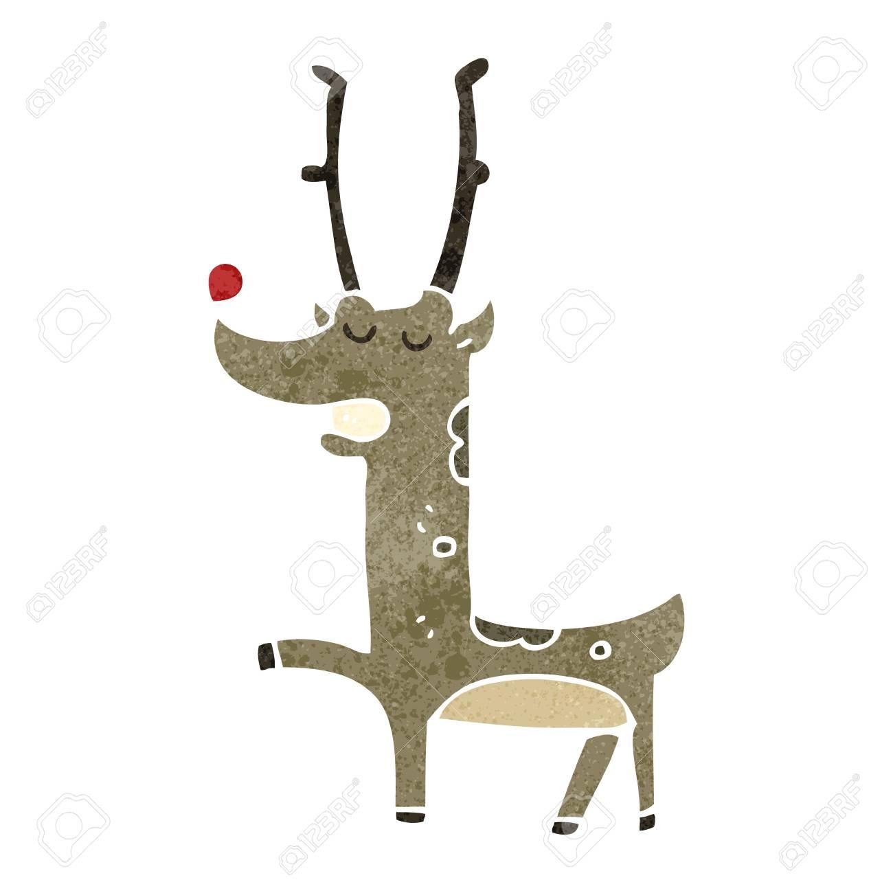 retro cartoon reindeer - 22155454