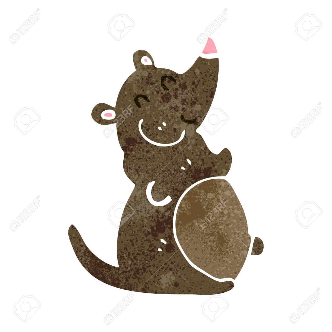 Vettoriale retrò cartone animato grasso ratto image