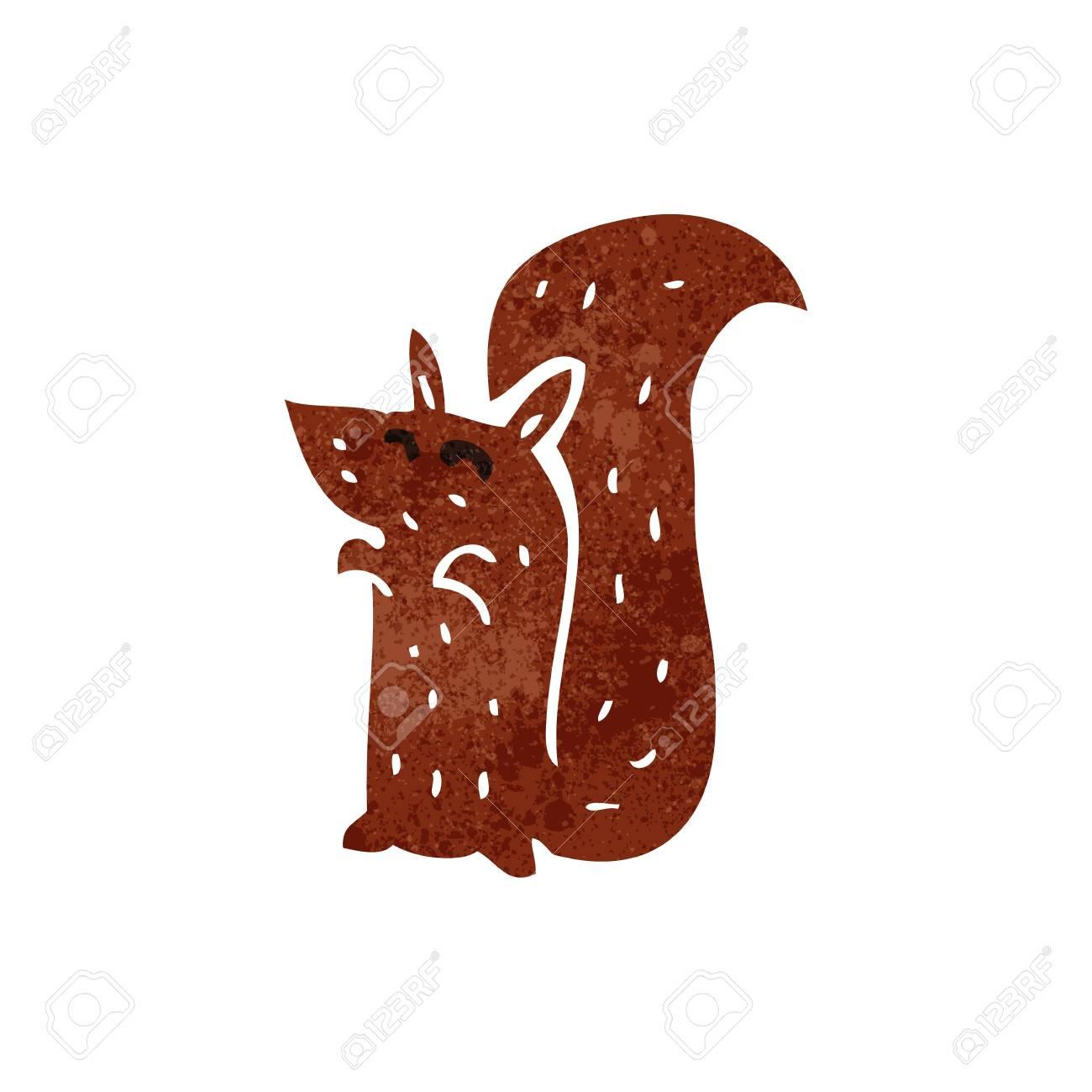 Vettoriale retrò scoiattolo rosso cartone animato image 22164947.