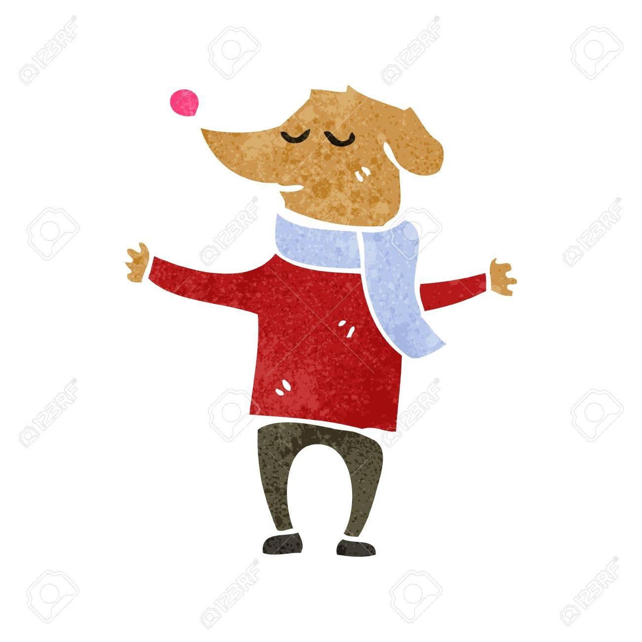 5a4b0a4bf5 retro cartoon dog wearing clothes Stock Vector - 22165199