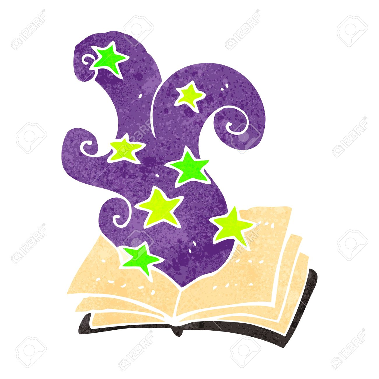 Retro Cartoon Magic Spell Book Royalty Free Cliparts Vectors And Stock Illustration Image 22188060