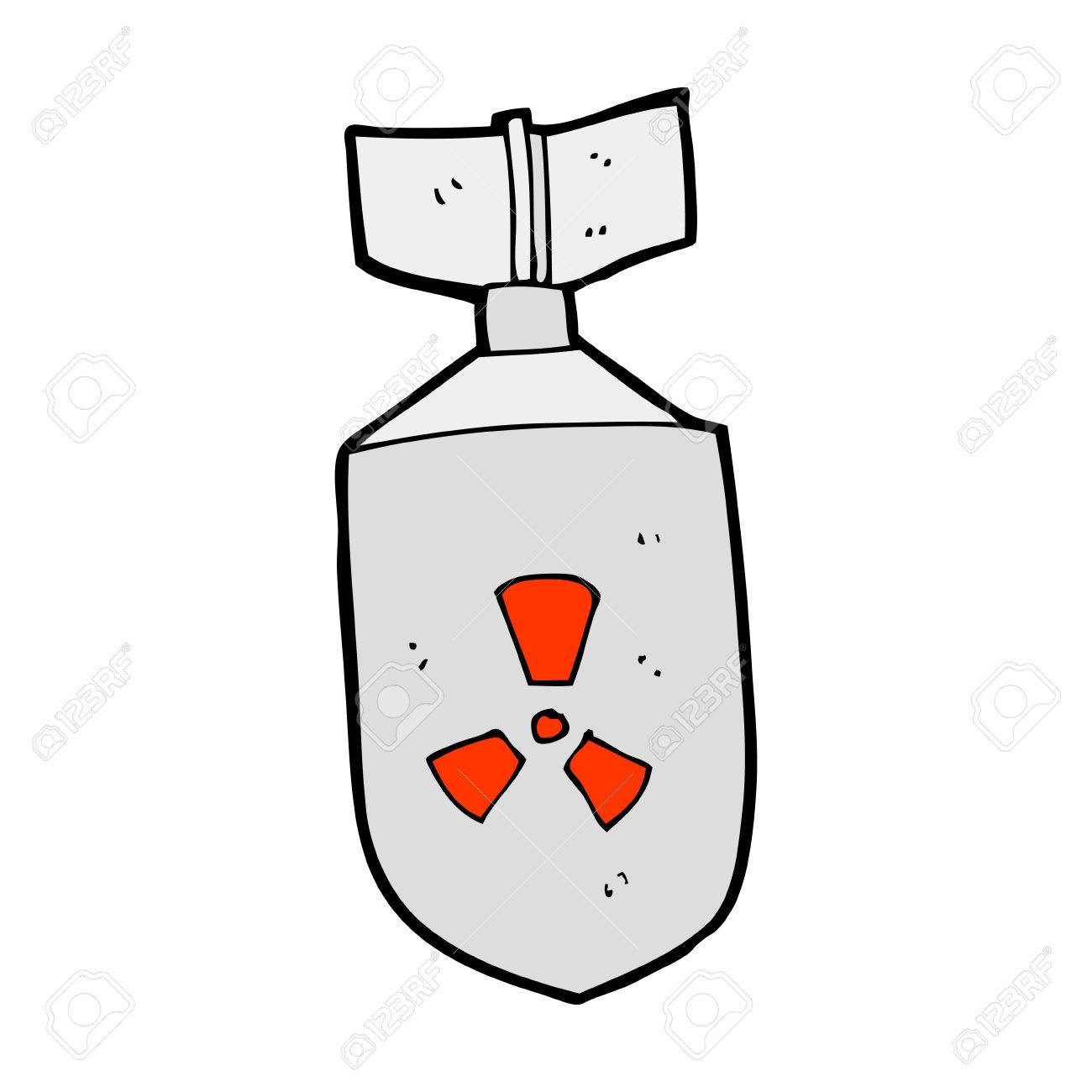 Cartoon Nuclear Bomb Royalty Free Cliparts, Vectors, And Stock ...