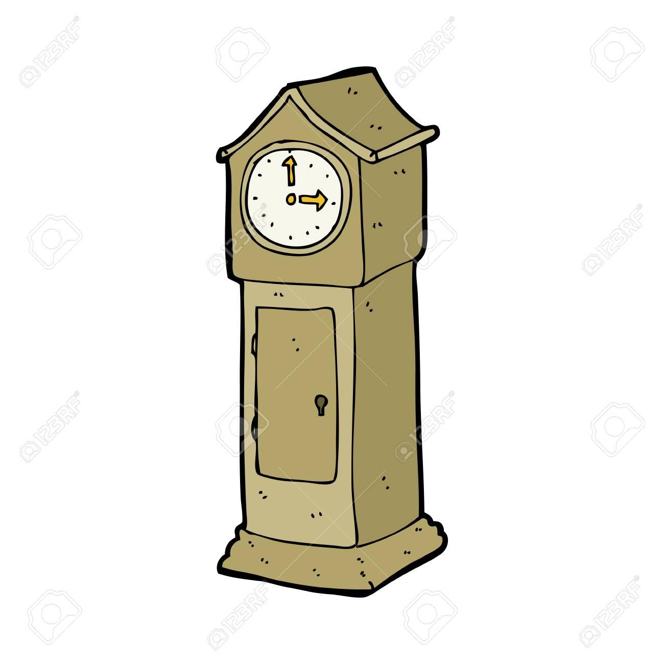 cartoon grandfather clock