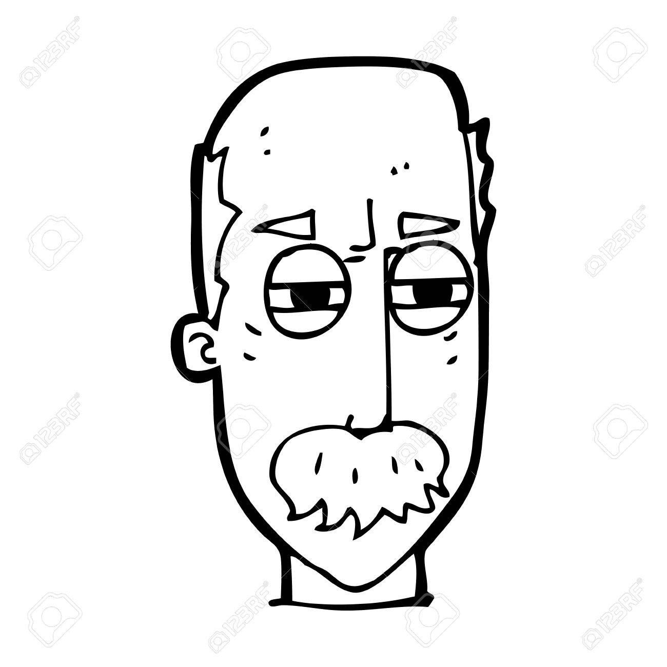 Angry Old Man Drawing cartoon annoyed old man Vector