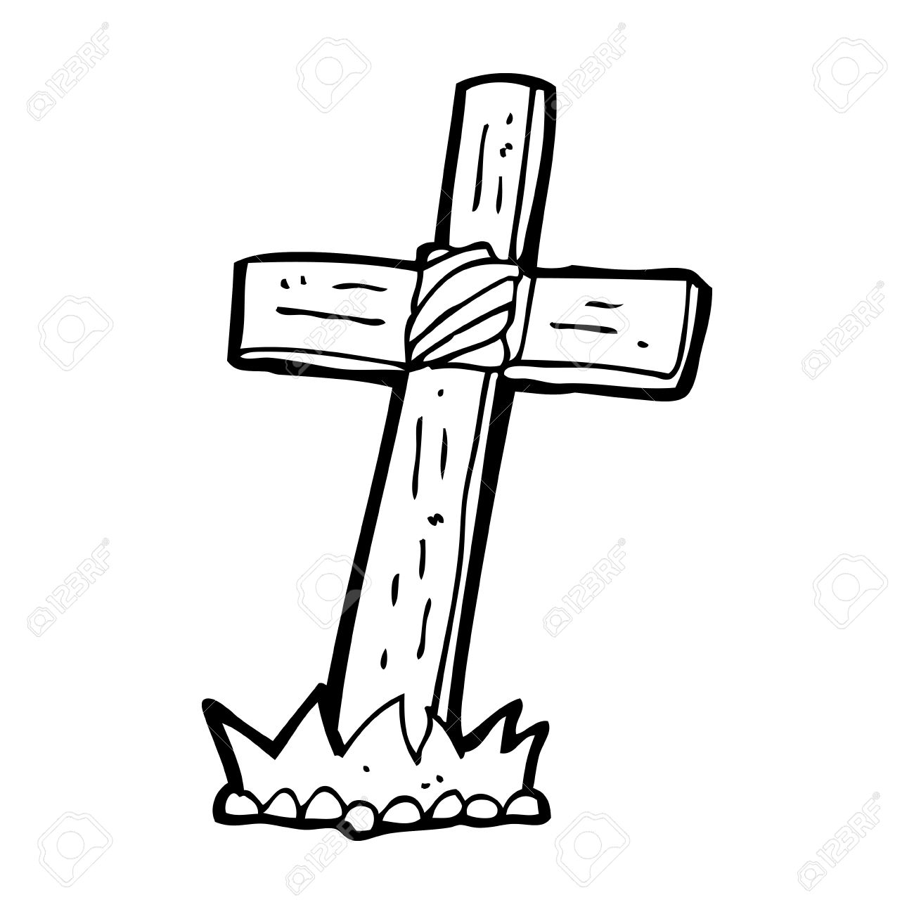 Rough Wooden Cross Clipart