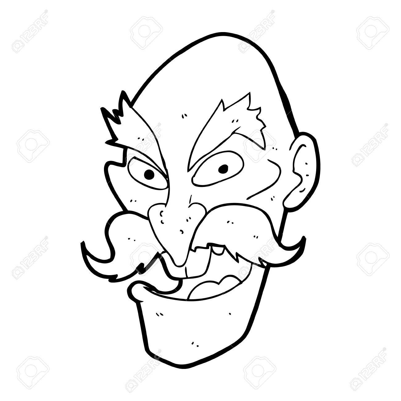 Old Man Face Cartoon Cartoon Evil Old Man Face