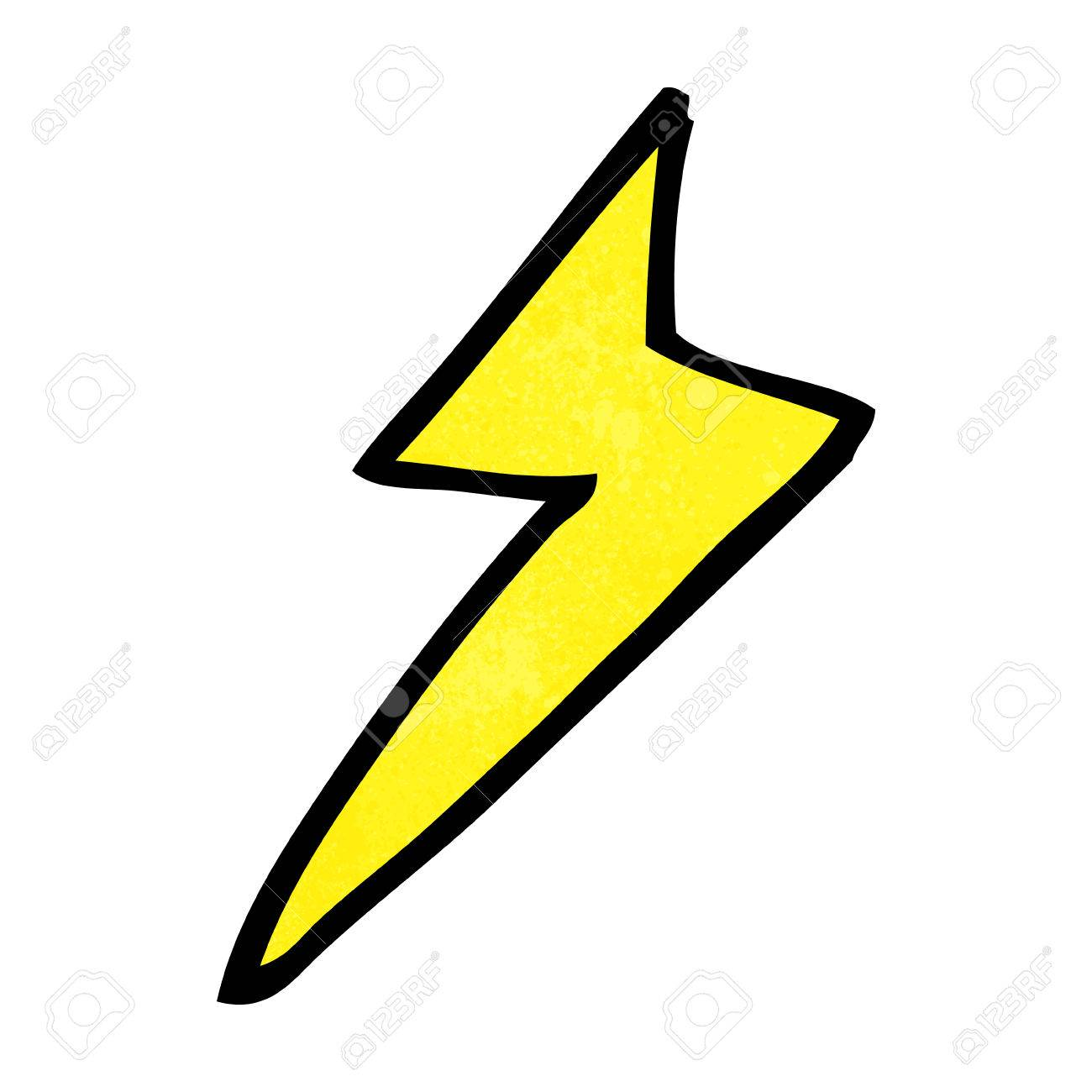 cartoon lightning bolt symbol royalty free cliparts vectors and rh 123rf com