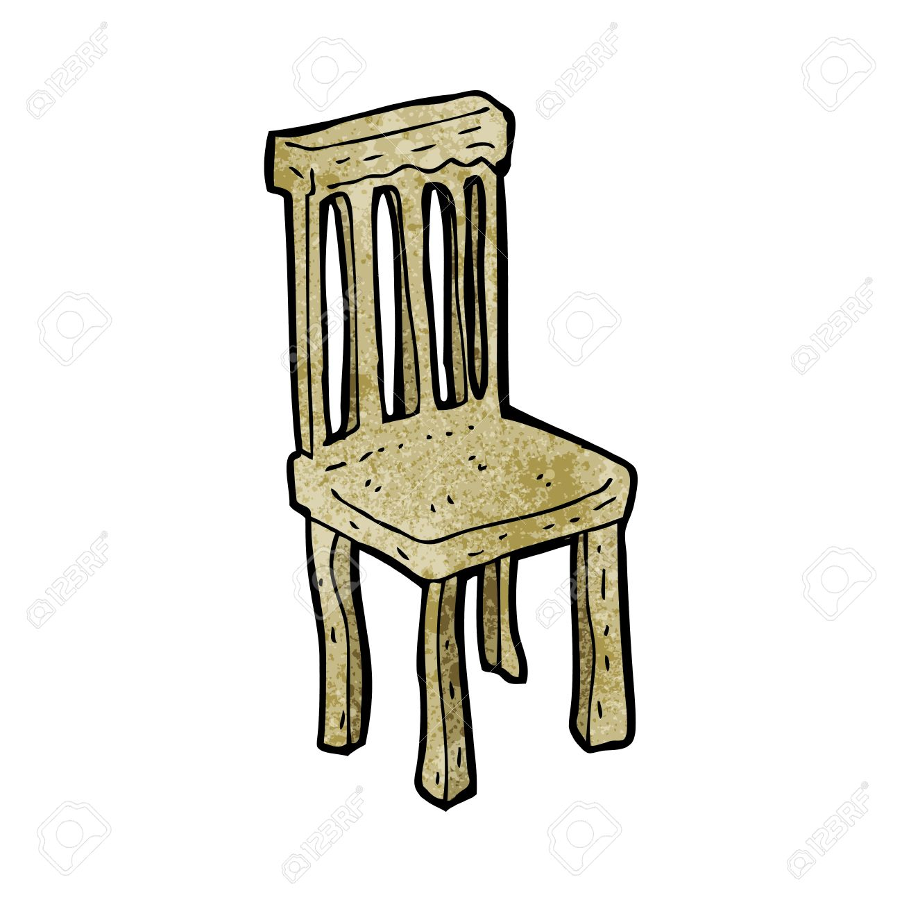 Cartoon Old Wooden Chair Royalty Free Cliparts Vectors And Stock