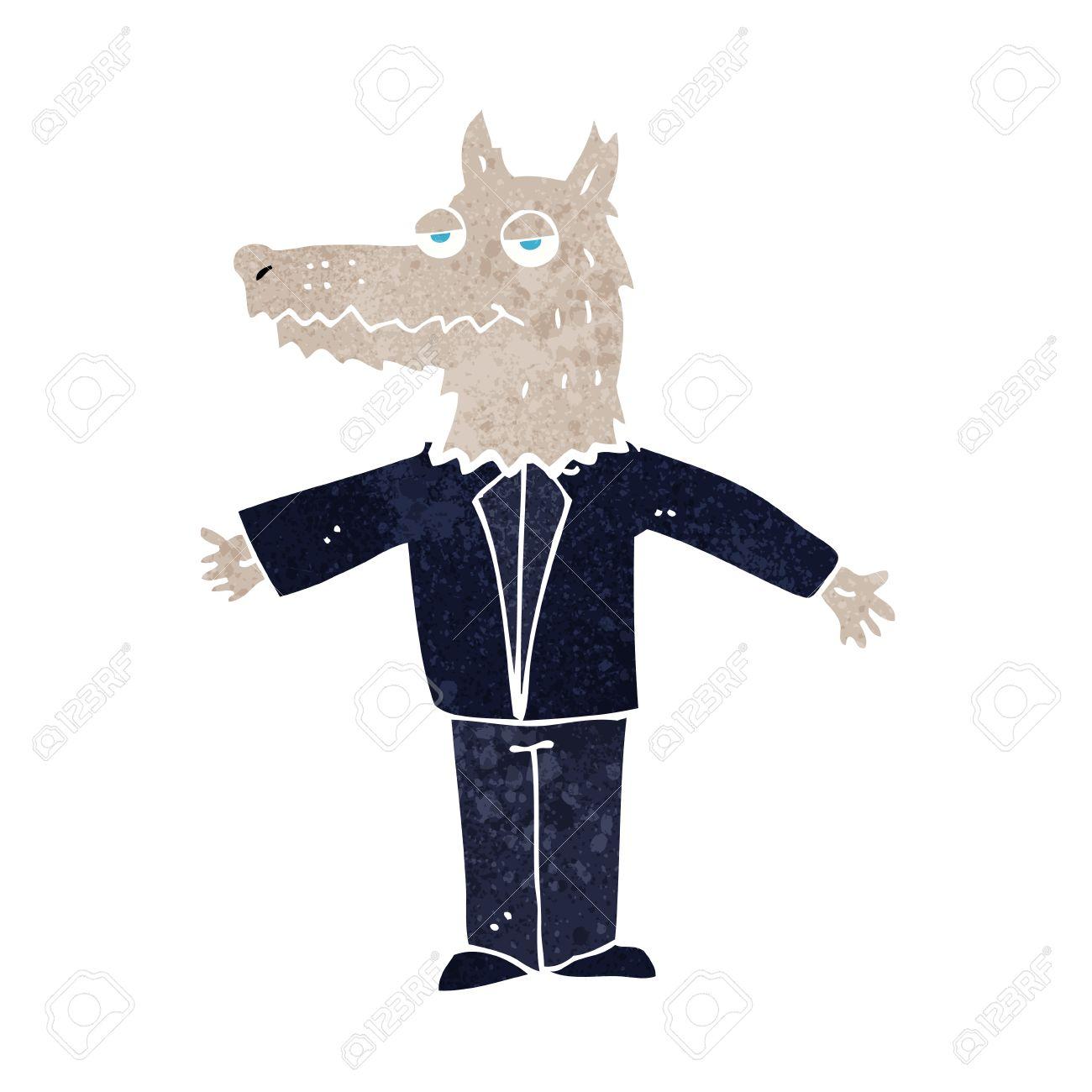 Vettoriale cartone animato lupo image