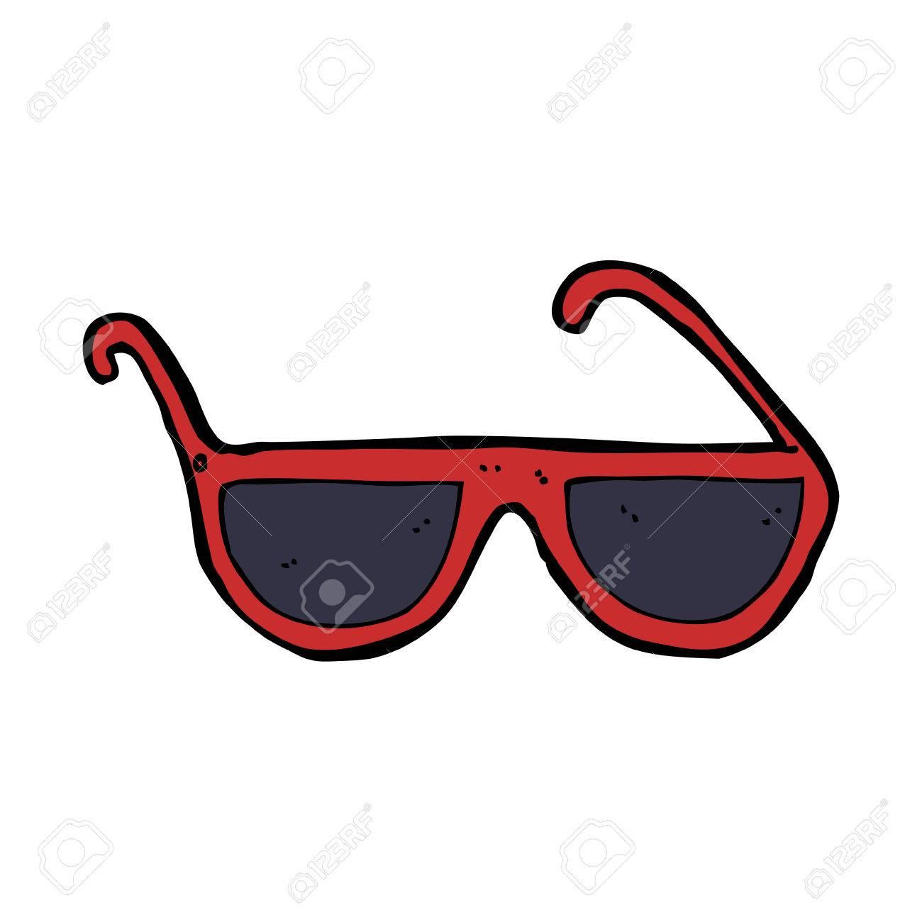 Foto de archivo , gafas de sol de dibujos animados