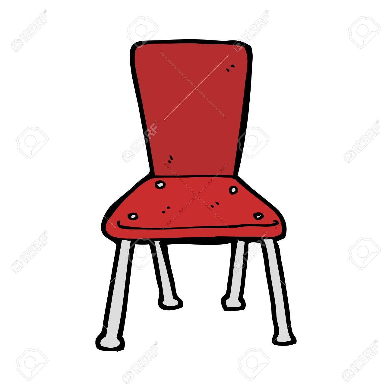 Cartoon Old School Chair Stock Vector   27857286