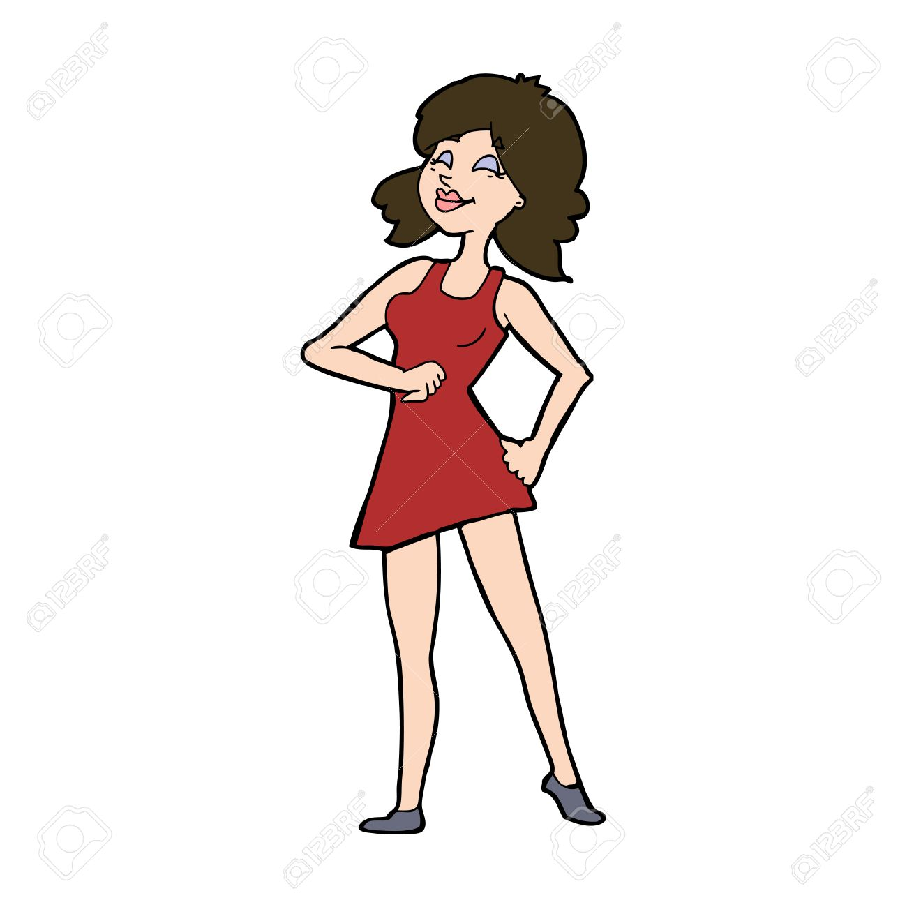 Cartoon Proud Woman Royalty Free Cliparts Vectors And Stock