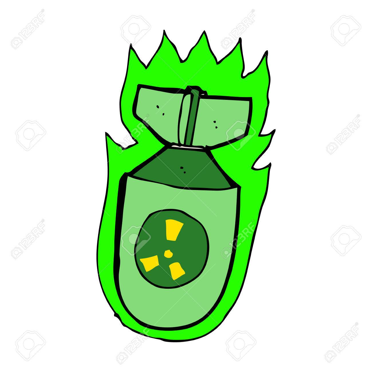 Cartoon Atomic Bomb Royalty Free Cliparts, Vectors, And Stock ...